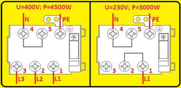 Anschluss für 230V oder 400V