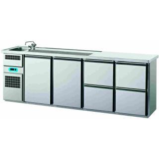Kühltresen2 Türen 4 Schubladen