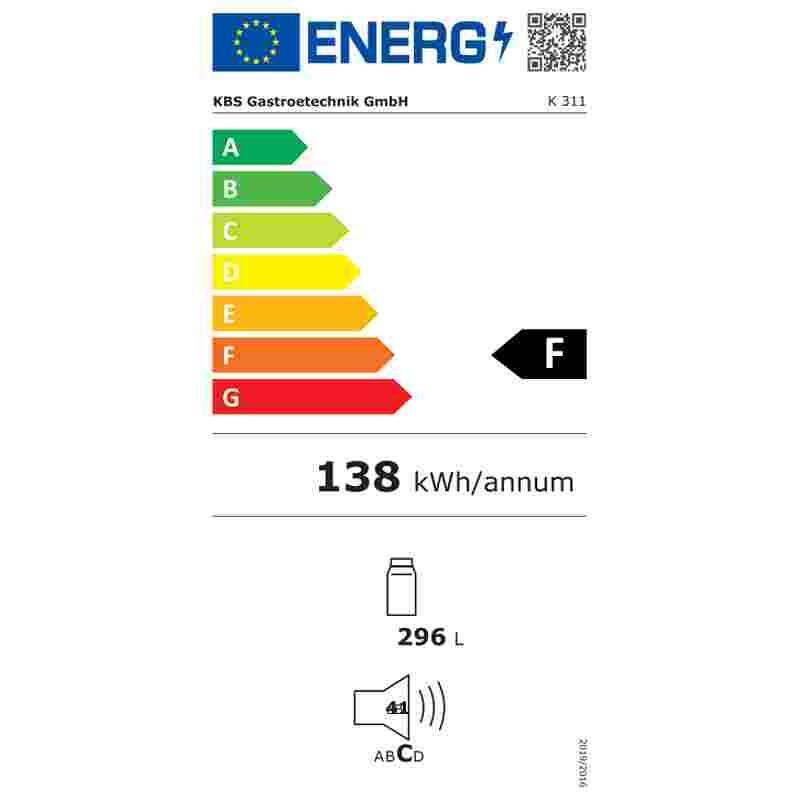 Energielabel K-311 Kühlschrank