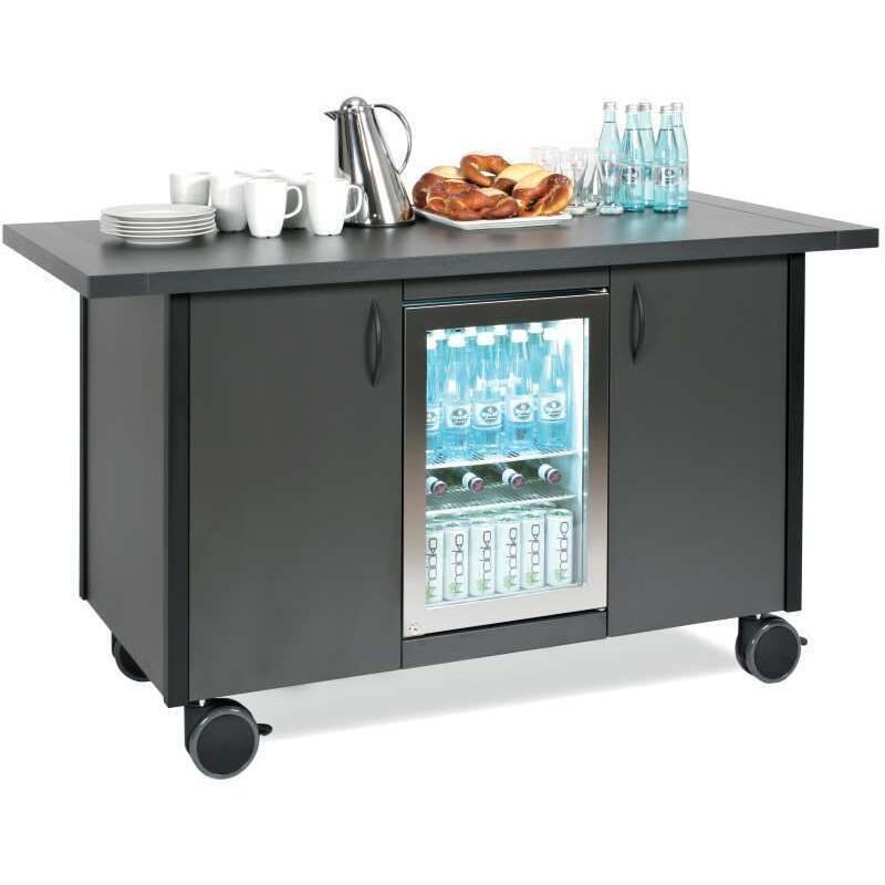 fahrbare ebinger servicestation mit k hlschrank. Black Bedroom Furniture Sets. Home Design Ideas
