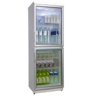 Glastürkühlschrank mit 2 Türen