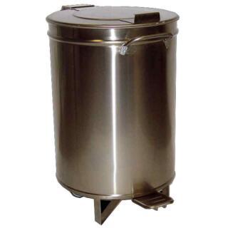 Edelstahl Abfalleimer 50 Liter mit Deckel